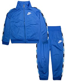 Little Boys 2-Pc. Logo-Tape-Trim Jacket & Jogger Pants Set