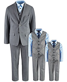 & Nautica Gray Suit Separates & Vest Sets