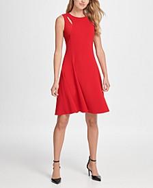 Cutout Fit & Flare Dress