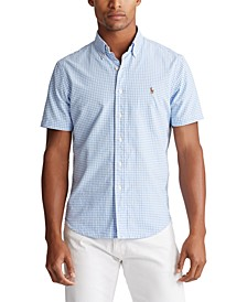 Men's Big & Tall Classic Fit Gingham Oxford Shirt