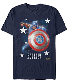 Men's Captain America Super Shield, Short Sleeve T-Shirt