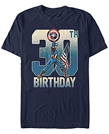 Fifth Sun Men's Captain America 30th Birthday Short Sleeve T-Shirt