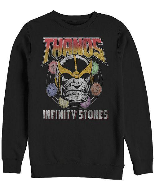 Marvel Men's Classic Comics Thanos Infinity Stones, Crewneck Fleece