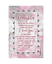 "Daughter Wood Plaque with Easel and Hanger, 6"" x 9"""