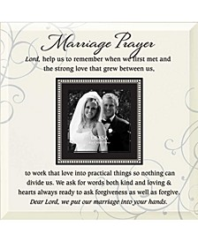 "Marriage Prayer Beveled Glass Photo Frame with Easel, 12"" x 12"""