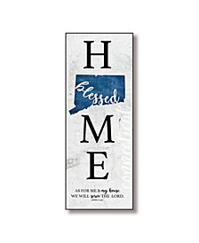 "Connecticut Home-Blessed Wood Wall Plaque with Hanger, 5.5"" x 12"""