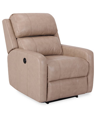 Colton Leather Power Recliner Furniture Macy S