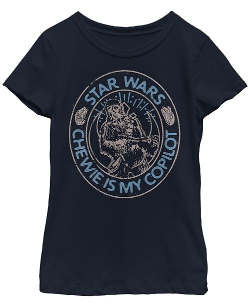 Star Wars Big Girls Chewie is My Copilot Short Sleeve T-Shirt