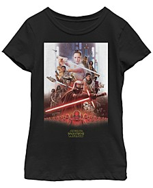 Big Girls Kylo Ren Rey Lightsaber Poster Short Sleeve T-Shirt