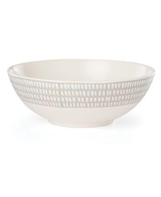 Textured Neutrals Dobby Serve Bowl