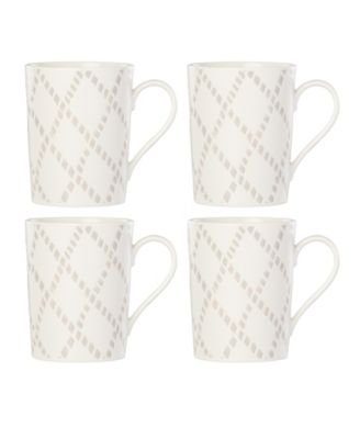 Textured Neutrals Lattice Mugs/4