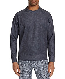 Men's Slim-Fit Stretch Texture Sweat Shirt