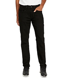 Men's Evan-X Slim-Straight Fit Stretch Black Jeans