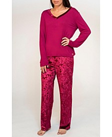 Mix Velvet Pajama Set, Online Only