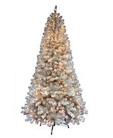 7.5' Pre-lit Rose Gold Slim Tree 500 Clear Lights