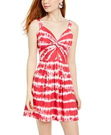 Juniors' Tie-Dye Fit & Flare Dress