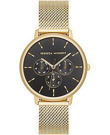 Women's Major Gold-Tone Stainless Steel Mesh Bracelet Watch 38mm