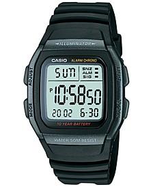 Unisex Digital Black Resin Strap Watch 38mm