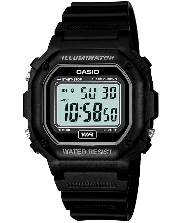 Casio - Men's Digital Black Resin Strap Watch 42.4mm
