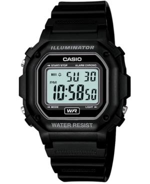 Men's Digital Black Resin Strap Watch 42.4mm