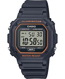 Men's Digital Gray Resin Strap Watch 42.4mm