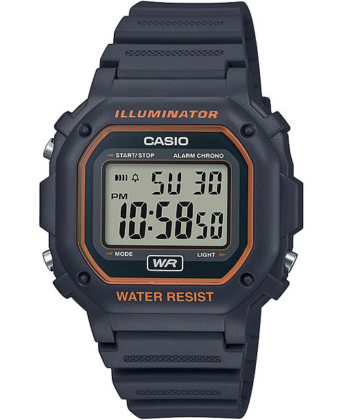 Casio Men's Digital Gray Resin Strap Watch 42.4mm