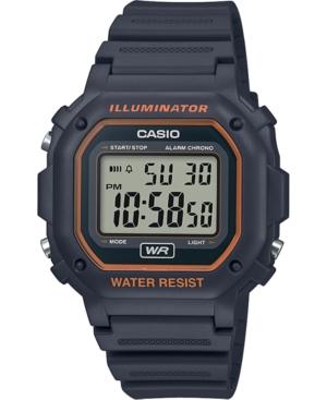 n Men's Digital Gray Resin Strap Watch 42.4mm