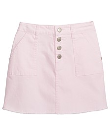 Big Girls Frayed Denim Skirt, Created For Macy's