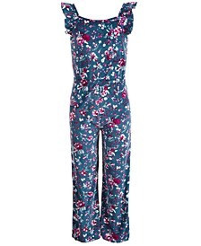 Big Girls Floral-Print Jumpsuit, Created for Macy's