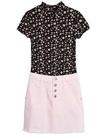 Big Girls Floral-Print T-Shirt & Denim Skirt, Created For Macy's