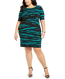 Plus Size Tiered Sheath Dress