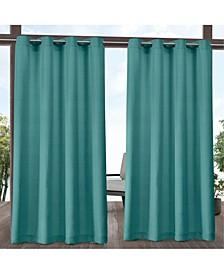 Aztec Indoor/Outdoor Grommet Top Curtain Panel Pair