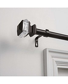 """Marquise 1"""" Curtain Rod and Coordinating Finial Set"""