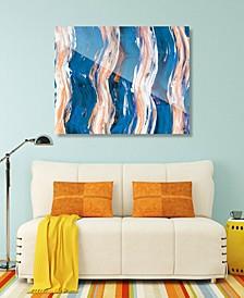 Zimba on Blue Abstract Acrylic Wall Art Print Collection