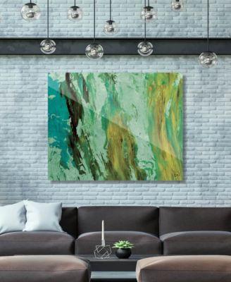 "Kunja on Mint Abstract 24"" x 36"" Acrylic Wall Art Print"