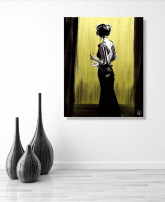 """Women in Black on Canary from Back 16"""" x 20"""" Acrylic Wall Art Print"""