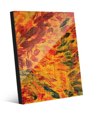 "Flames in Flight Abstract 16"" x 20"" Acrylic Wall Art Print"