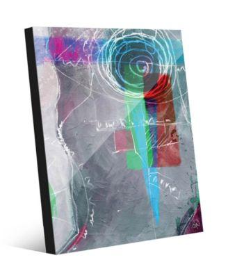 "Potaru in Grey Abstract 24"" x 36"" Acrylic Wall Art Print"