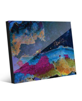 Splash Coast in Blue Abstract 24