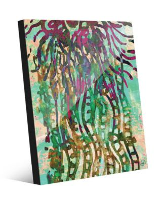 Psychedelic Jelly Fish in Green Abstract 20