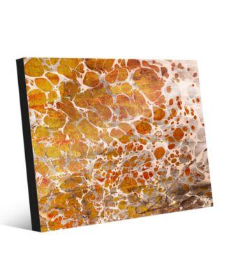 Orange Yellow Blotch Spots Abstract 24