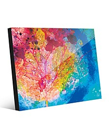 Vibrant Scarlet Willow Tree Abstract Acrylic Wall Art Print Collection