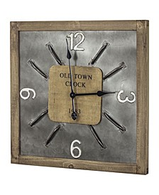 American Art Decor Old Town Clock 1983 Oversized Hanging Wall Clock