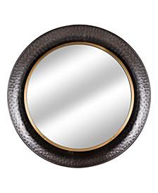 American Art Decor Rustic Round Farmhouse Mirror
