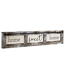 American Art Decor Home Sweet Home Rustic Wood Canvas Sign