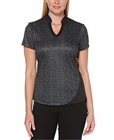 Ditsy Floral V-Neck Golf Top