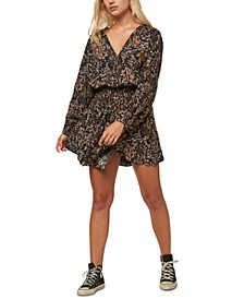 Juniors' Tylee Printed Blouson Dress