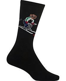 Women's Sporty Ski Polo Bear Trouser Socks