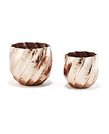 Rose Swirl Vases/Planters - Set of 2