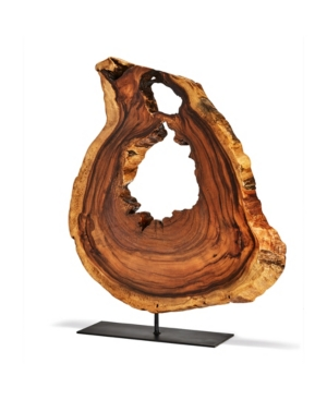 Two's Company Acacia Wood Slice on Stand